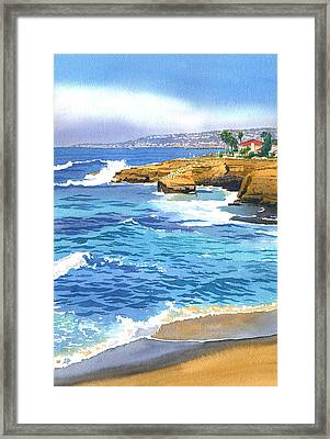 Sunset Cliffs Point Loma Framed Print by Mary Helmreich