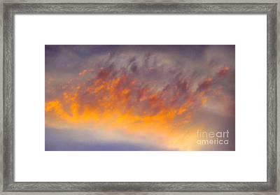 Sunset Cloud-1 Framed Print by Alan Thwaites
