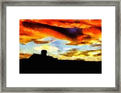 Sunset Colours Framed Print by Ayse Deniz