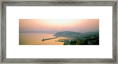 Sunset Cote Dazur Nice France Framed Print by Panoramic Images