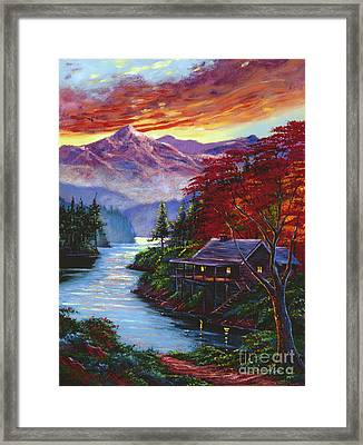 Sunset Cove Framed Print by David Lloyd Glover