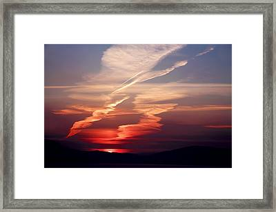 Sunset Dance Framed Print by Aidan Moran
