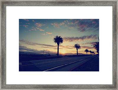 Sunset Drive Framed Print by Laurie Search