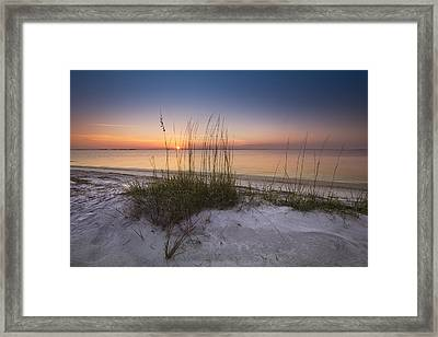 Sunset Dunes Framed Print by Debra and Dave Vanderlaan