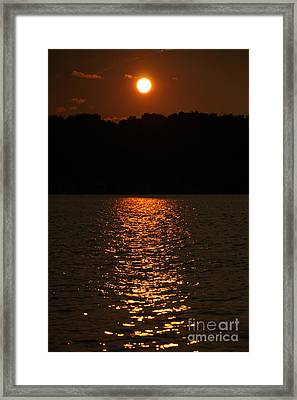 Sunset Fading On Conesus Lake Framed Print by Steve Clough