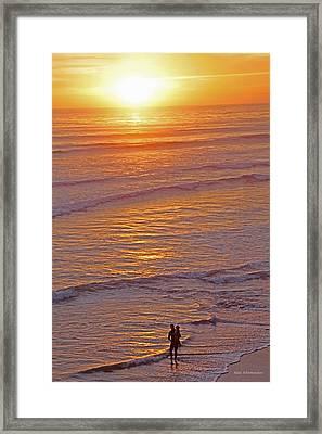 Sunset For Two - Metaphysical Energy Art Print Framed Print by Alex Khomoutov
