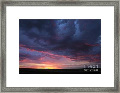 Sunset Framed Print by Francis Lavigne-Theriault