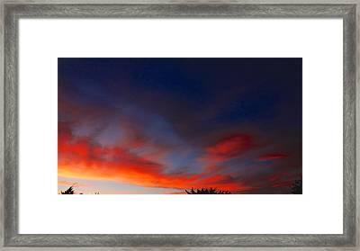 Sunset Framed Print by Frederick R