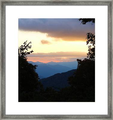 Sunset From Blue Ridge Parkway Framed Print by Dan Sproul