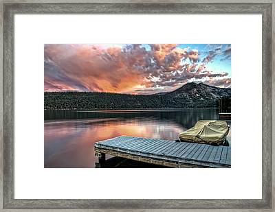 Sunset From Pier Framed Print by Maria Coulson