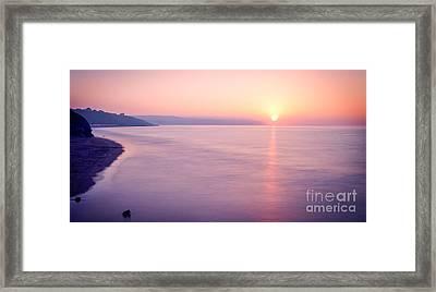 Summer Sunset Whitby Framed Print by Janet Burdon