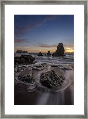 Sunset Goodbye Framed Print by Rick Berk