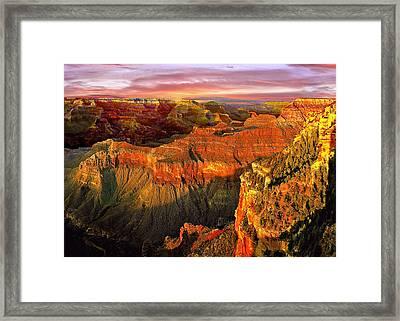 Sunset Grand Canyon Arizona Framed Print by Bob and Nadine Johnston