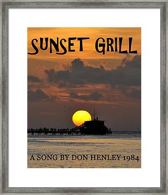 Sunset Grill Don Henley 1984 Framed Print by David Lee Thompson