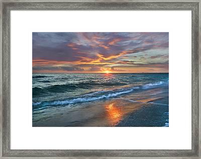 Sunset Gulf Islands National Seashore Framed Print by Tim Fitzharris