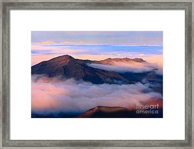 Sunset Haleakala National Park - Maui Framed Print by Henk Meijer Photography