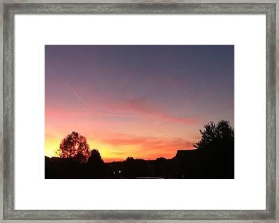 Sunset Framed Print by Hannah  Van Pelt