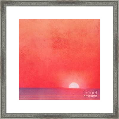 Sunset Impression Framed Print by Angela Doelling AD DESIGN Photo and PhotoArt