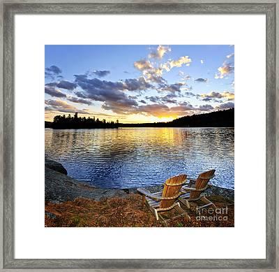 Sunset In Algonquin Park Framed Print by Elena Elisseeva