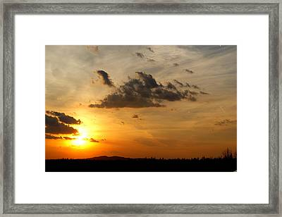 Sunset In Bavarian Forest Framed Print by Adam  S