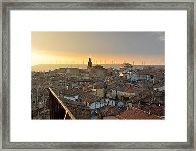 Sunset In Calahorra From The Bell Tower Of Saint Andrew Church Framed Print by RicardMN Photography