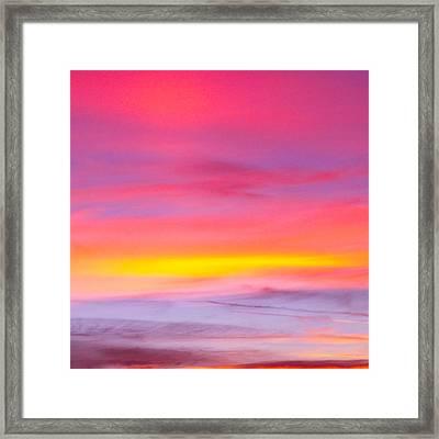 Sunset In Florda Framed Print by Dennis Dugan