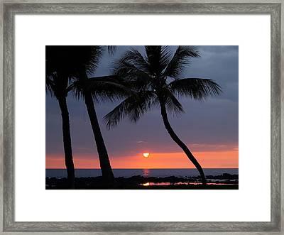 Sunset In Hawaii Framed Print by Athala Carole Bruckner