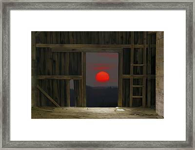 Sunset In Leraysville Framed Print by David Simons