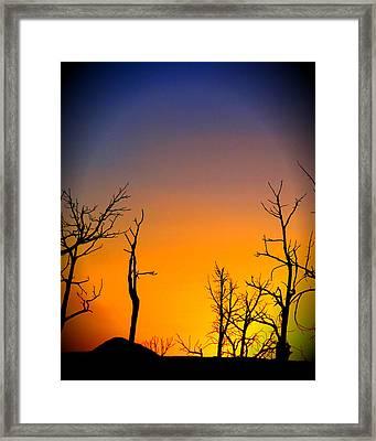 Sunset In Mesa Verde Framed Print by Dan Sproul