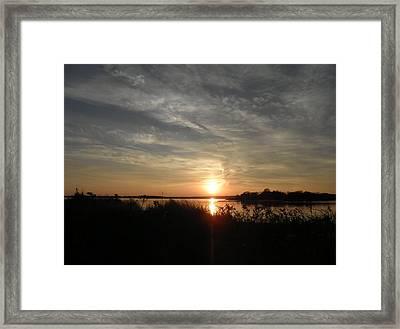 Sunset In November Framed Print by Kate Gallagher