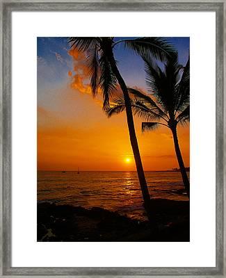 Sunset In Paradise Framed Print by Athala Carole Bruckner