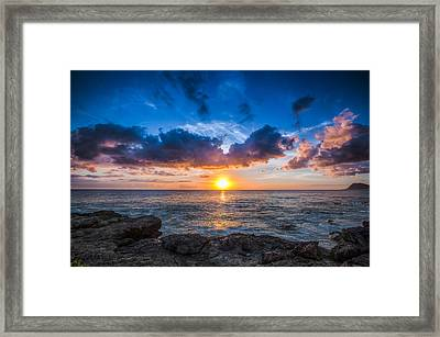 Sunset In Paradise Framed Print by Mike Lee