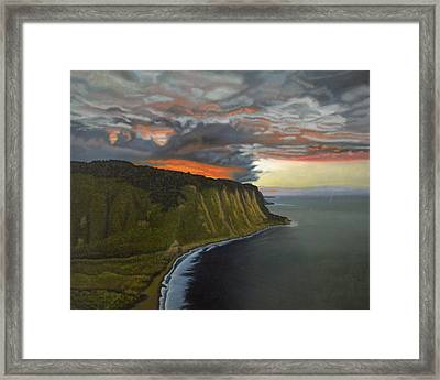Sunset In Paradise Framed Print by Thu Nguyen