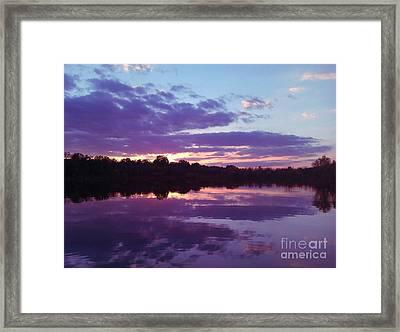Sunset In Purple Framed Print by R McLellan