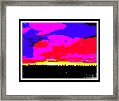 Sunset In Red Blue Yellow Pink Framed Print by Roberto Gagliardi