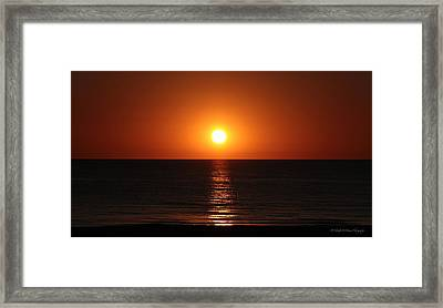 Sunset In St. Pete Framed Print by Tabitha Williams
