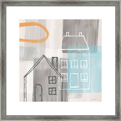 Sunset In The City Framed Print by Linda Woods