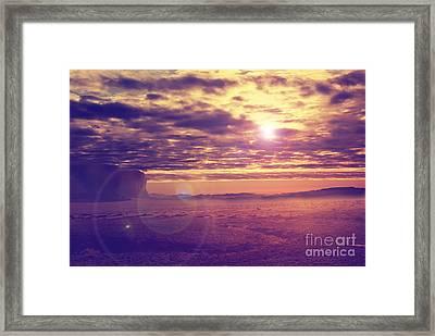 Sunset In The Desert Framed Print by Jelena Jovanovic