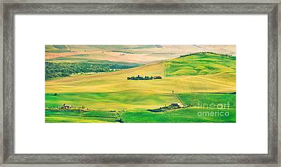 Sunset In Tuscany Framed Print by JR Photography