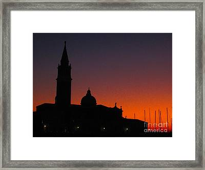 Sunset In Venice Framed Print by C Lythgo