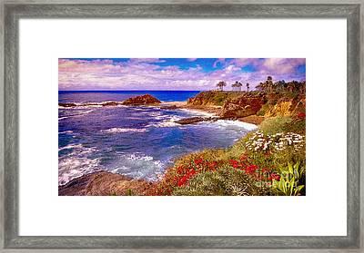 Sunset Laguna Beach California Framed Print by Bob and Nadine Johnston