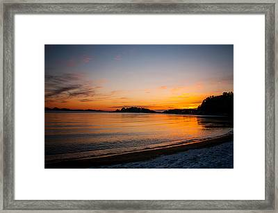 Sunset Framed Print by Mirra Photography