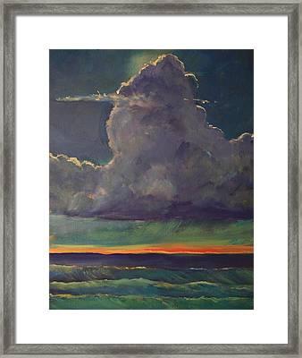 Sunset Moonglow Framed Print by Jim Noel