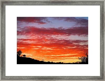 Sunset Framed Print by Natalie Kinnear