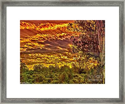 Sunset Navajo Tribal Park Canyon De Chelly Framed Print by Bob and Nadine Johnston