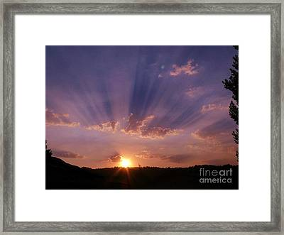 Sunset Of Dreams Framed Print by Jacquelyn Roberts