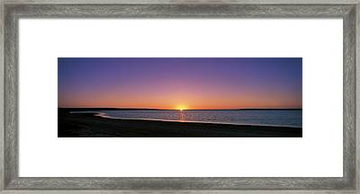 Sunset On Beach Australia Framed Print by Panoramic Images