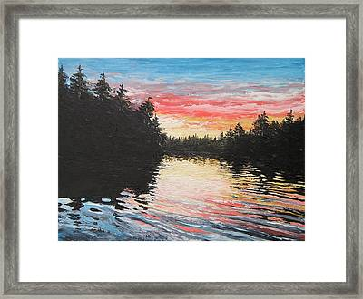 Sunset On Buckhorn Lake Framed Print by Scott White
