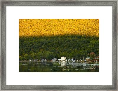 Sunset On Canandaigua Lake Framed Print by Steve Clough