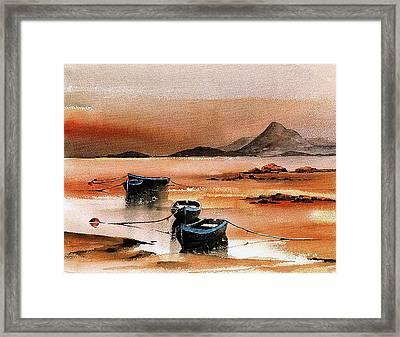 Sunset On Croagh Patrick   Mayo Framed Print by Val Byrne